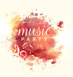 Abstract music party watercolor event template vector