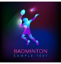 Abstract silhouette a badminton player vector