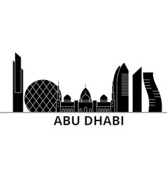 Abu dhabi architecture city skyline travel vector