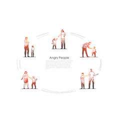 angry people - angry women and men vector image