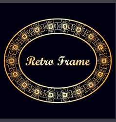 art deco vintage border frame vector image