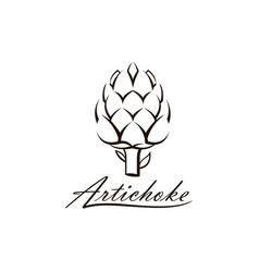 artichoke vegetable vector image