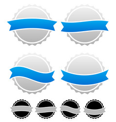 badge pin templates with banners graphic vector image