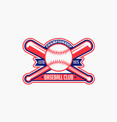 Baseball logo badge-6 vector