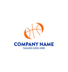 basket ball logo vector image