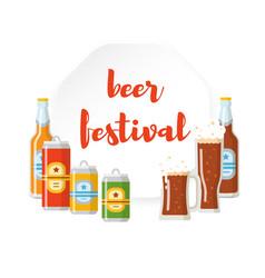 beer festival flat poster vector image