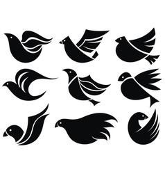 Bird labels vector image