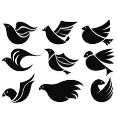 Bird labels vector