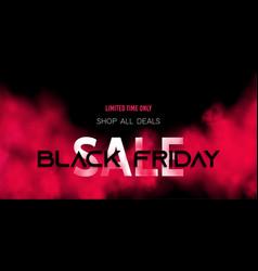Black friday sale concept on dark background vector