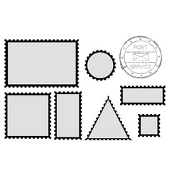 Blank post stamp shape - rectangle triangle vector