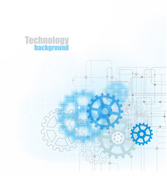 blue abstract technology background with blue vector image
