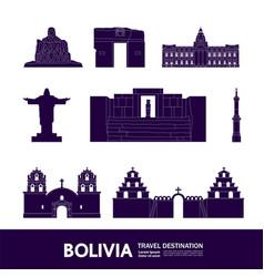 Bolivia travel destination vector
