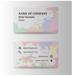 Business card elegant design vector