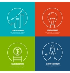 Business line art backgrounds Finance and vector