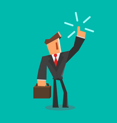 businessman get an idea flat style vector image