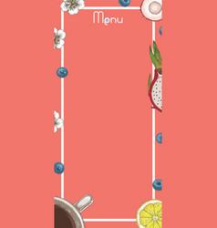 Cafe menu template vector