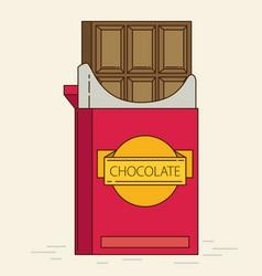 chocolate retro flat style vector image