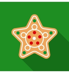 Christmas Gingerbread in Flat Style with Long vector