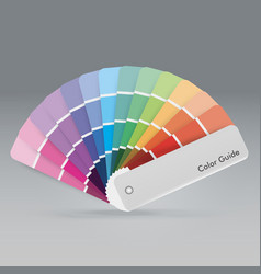 Color palette guide for print guide book for vector