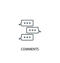 comments concept line icon simple element vector image