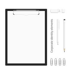 Corporate identity realistic clipboard vector