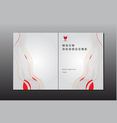 Cover minimal style template vector