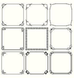 decorative frames set 45 vector image