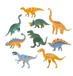 Different Species Of Dinosaurs Set vector