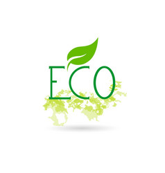 eco friendly organic natural bio product web icon vector image