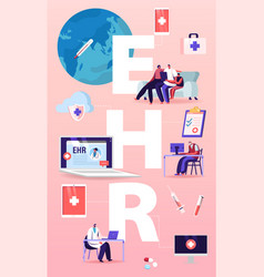 Ehr electronic health record concept patient vector