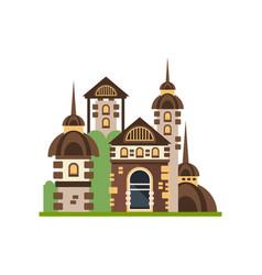 fairytale medieval stone castle vector image