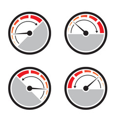 Fast acceleration speedometer icon isolated vector