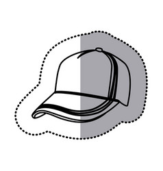 Figure hat cloth icon vector