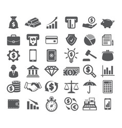 Finance icons on white vector
