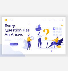 Flat landing page template vector