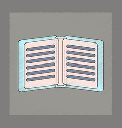 Flat shading style icon school notebook vector
