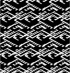 Geometric messy lined seamless pattern black vector