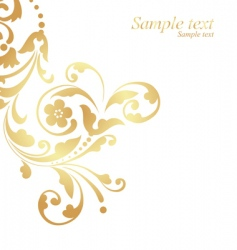 Gold floral design vector