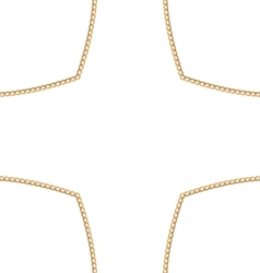 Golden chain of abstract shape vector