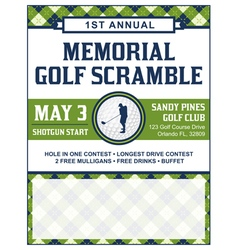 Golf Flyer Tournament vector