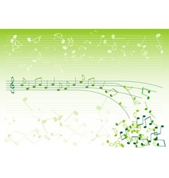 green notes vector image