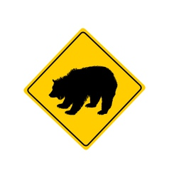 Grizzly warning sign vector