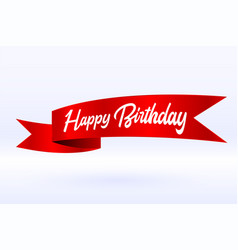 Happy birthday celebration ribbon background vector