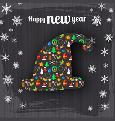 happy new year celebrating poster vector image
