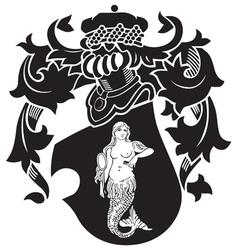 heraldic silhouette No40 vector image