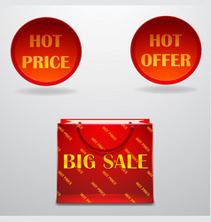 Hot-sale-design-with-shopping-bag-eps10 vector
