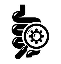 Intestine virus icon simple style vector