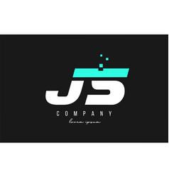 Js j s alphabet letter logo combination in blue vector