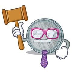 Judge dash coin character cartoon vector