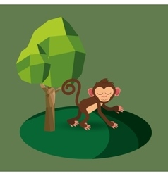 jungle monkey cartoon vector image